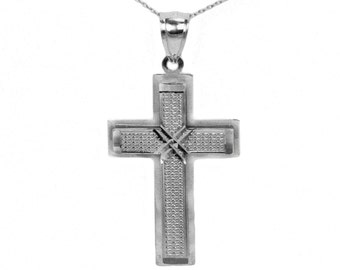 Sterling Silver Gold Cross Necklace