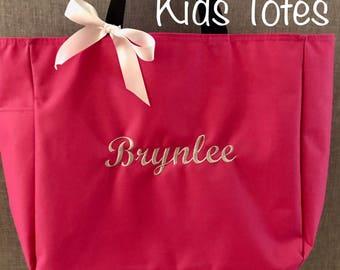 Zippered Kids Tote Bag, Kids Tote, Kids Bag,Tote Bag,Book Bag,Personalized Tote Bag,Beach Bag