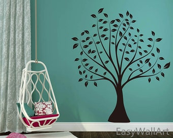 Tree Wall Decal, Simple Tree Decal, Tree Wall Art, Tree Wall Decor for Nursery ,Living room, Bedroom  & Tree Wall Sticker #T9