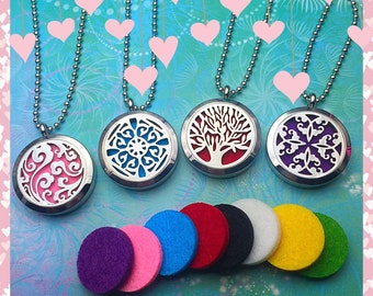 Aromatherapy Locket - Stainless Steel - Diffuser Necklace - Essential Oil Locket - Diffuser Locket - Aromatherapy Jewelry - Oil Diffuser