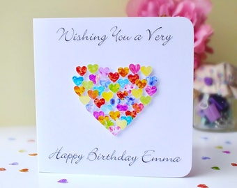 Custom Birthday Card - Colourful Birthday Card with Name or Relation of your choice, Brother, Sister, Friend, Daughter, Mum, Dad, Son, BHE32