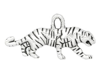 Tiger Animal 22x11mm charm pendant