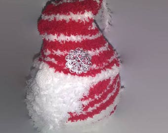 Mini Red and White Sock Gnome / House Gnome / Tomte / Nisse / Tomtenisse / Tonttu / Garden Hermit / Kitsch Gnome / Travelling Gnome