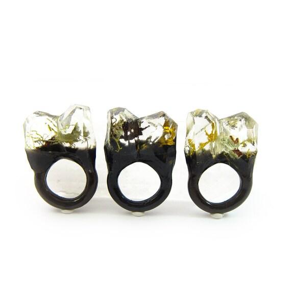 Moss Resin Ring • Nature Inspired Rings • Terrarium Ring • Terrarium Moss Jewelry • Botanical Ring •  • Size 5.5