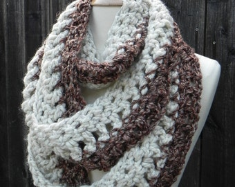 Thick and Chunky Infinity Scarf, Circle Scarf, Cowl, FREE DOMESTIC SHIPPING