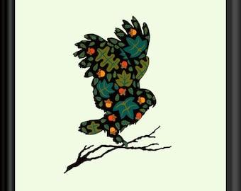 Woodland Owl Art Downloadable Print