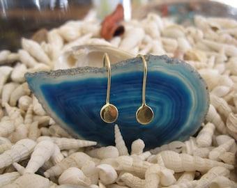 14K Gold Discs Earrings