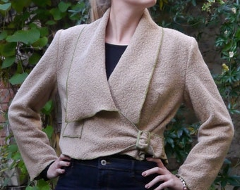PDF sewing Pattern frisked wool jacket Silke with Ebook sewing Instructions