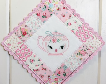 custom/recreate a sweet sugar bowl embroidered pot holder