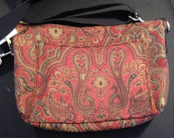 Red and gold paisley tapestry