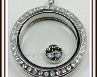 Live Love Laugh Floating Charm for Glass Locket / Floating Locket / Memory Locket