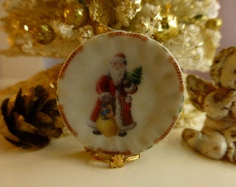 Fantasy Christmas Gifts from Santa Dollhouse Miniature Plate