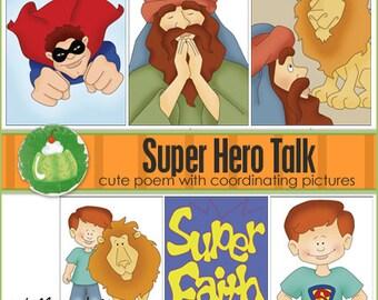 SUPER HERO Primary Talk - Downloadable File