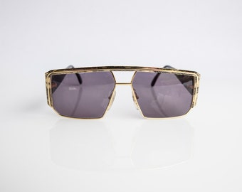 Ultra 7340 N Caviar Collection Made in Italy 63-20-139 Unisex Vintage Sunglasses Gold Gray Metal Plsatic NOS Deadstock - Free Shipping