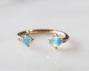 Blue Opal Stackable Ring