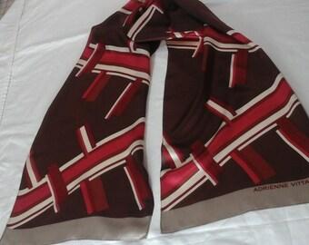 Vintage Adrienne vittadini designer scarf.