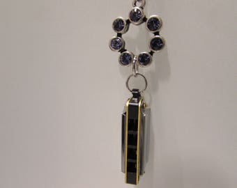 Purple Haze Harmonica necklace inspired by Jimi Hendrix