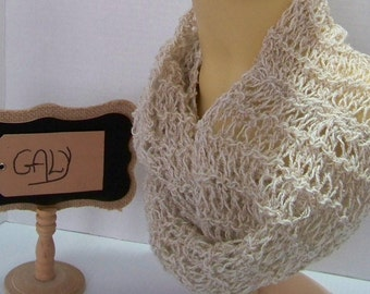Light # 317 (unbleached) cotton scarf