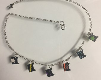 Stained Glass Warrior Cat Clan Necklace
