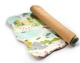 Toy Map - Pretend Camping Map - Outdoor Play - Fabric Map  - Place mat - Eco Friendly