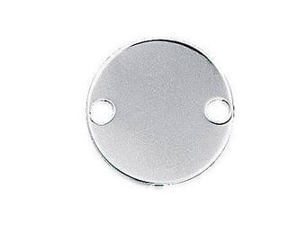 Round connector 20 mm sterling silver