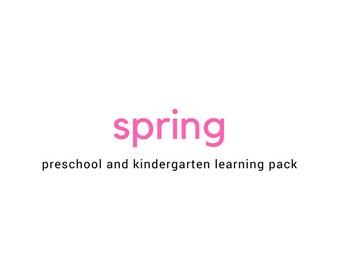 Spring Learning Pack - Preschool and Kindergarten