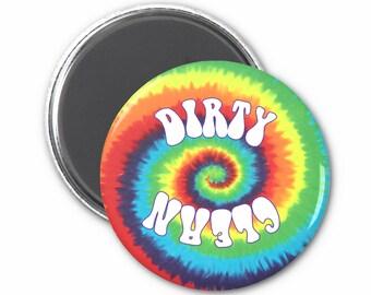 Tie Dye Clean Dirty Dishwasher Magnet