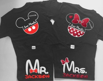 Disney honeymoon shirts, Disney mr and mrs shirts, mr and mrs Disney shirts, Disney just married shirts, just married shirts, Fast Shipping