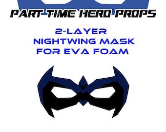 Nightwing foam cosplay mask template