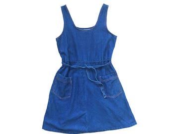 I've Got the Blues Denim Jumper Dress