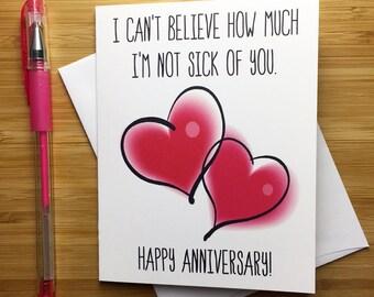 Funny Anniversary Card, Happy Anniversary Card, Funny Love Card, I Love You Card, Cute Anniversary Card for Boyfriend Girlfriend, Love Card