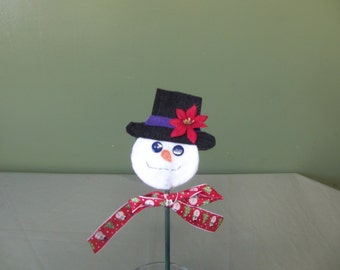 Snowman plant poke winter Christmas decoration