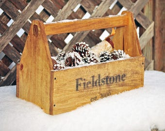 Wooden Tool Box Old-fashioned New Vintage Look