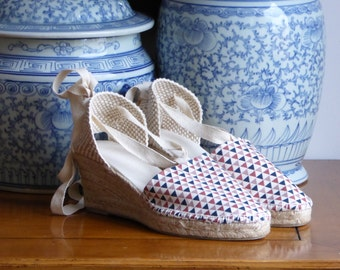 SALE: Lace-up Espadrille Wedges - NORDIC COLLECTION - Made In Spain - www.mumicospain.com