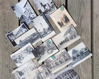 Lot of 14 written postcards vintage