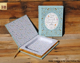 Book Safe - The Secret Garden - Leather Bound Hollow Book Safe