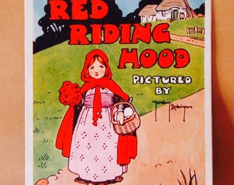Vintage Children's Book 1940's Red Riding Hood, Illustrated, Softcover