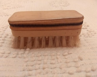 Vintage Leather, Zippered, Manicure Kit. Made in West Germany