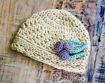 Crochet Hat Pattern, Crochet Baby Hat Pattern, Baby Girl Hat Pattern, Hat Pattern for Baby Girl, Newborn Girl Hat Pattern, Pdf file