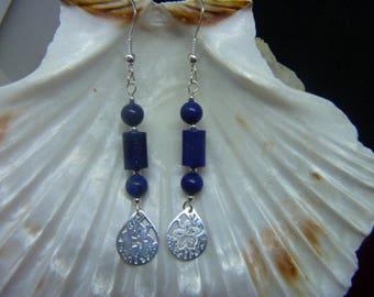 Genuine LAPIS LAZULI earrings