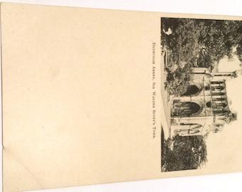 Vintage Postcard/Antique Postcard/Sir Walter Scott Postcard/Dryburgh Abbey Postcard/ Scotland Postcard/ Full Back Postcard