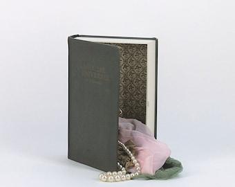 Book jewelry box / Vintage french / Big Secrets box / 'Larousse Universel 2 volumes' 1923 first volume