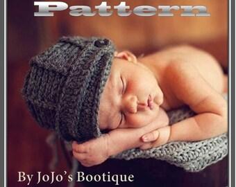 PDF Newsboy Hat PATTERN - Baby Newsboy Hat - Crochet Pattern - Boy Hat Pattern - Crochet Newsboy Hat Tutorial - by JoJosBootique