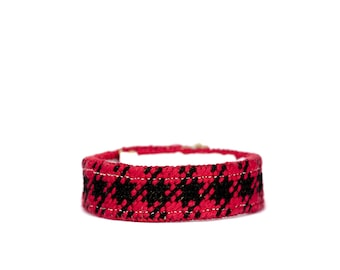 DIY Needlepoint Skinny Cuff Kit in Buffalo Plaid