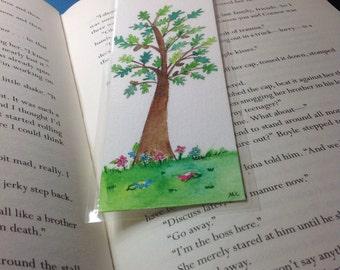 Handmade bookmarks,oaktree bookmarks,tree bookmark, unique bookmarks, oakleaf bookmark.
