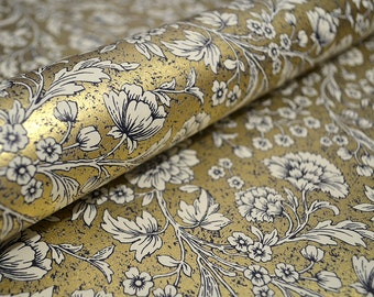 Italian Decorative Wrapping Paper - Gold Floral
