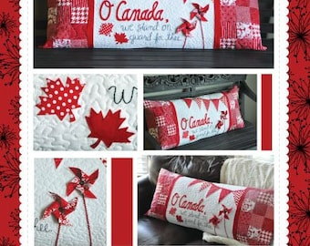 """Pattern - """"O Canada"""" Bench Pillow Paper Sewing Pattern / Instruction Booklet by KimberBell (KID178)"""