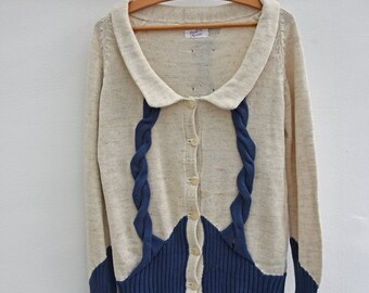 vest, cardigan, sweater, vintage cardigan, 50 style