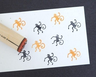 Monkey Rubber Stamp