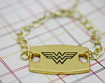 Gold Wonder Woman Bracelet 7 Inches